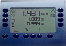 260/280 ratio measurement screen