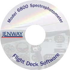 Flight deck PC software for the 6800 spectrophotometer